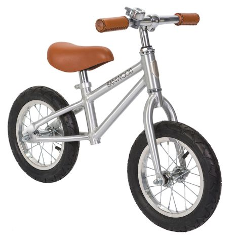 Banwood Laufrad Balance Bike 'First Go' Chrome Special Edition •