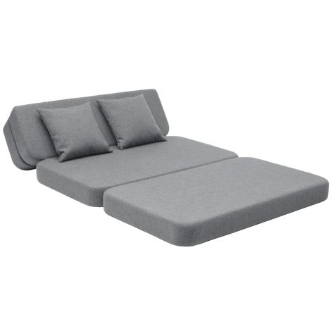 by KlipKlap KK 3 fold Sofa 120 cm Blue Grey/Grey