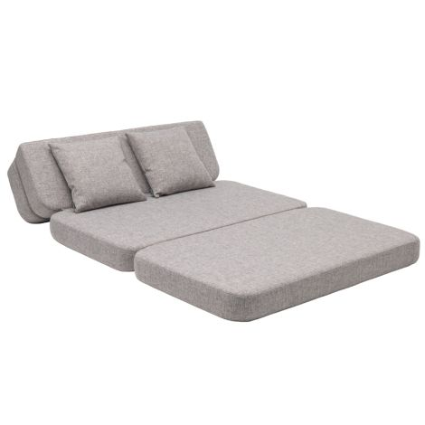 by KlipKlap KK 3 fold Sofa XL soft 140 cm Multi Grey/Grey