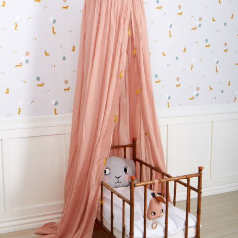 Roommate Betthimmel Vorhang Rose/ Gold Bio-Baumwolle