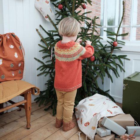 Fabelab Weihnachtsbeutel Candy Bestickt Bio-Baumwolle