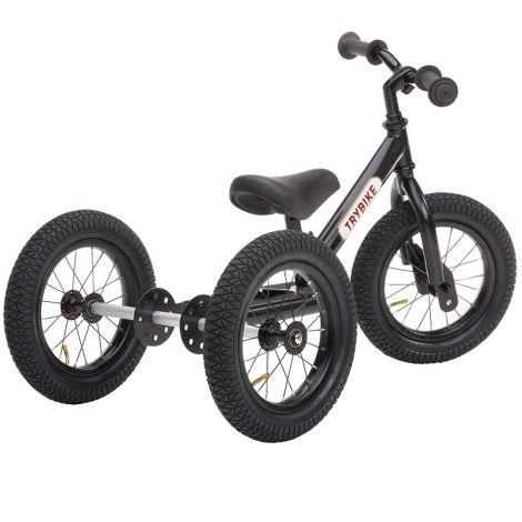 Trybike Dreirad / Laufrad All Black Edition 2 in 1