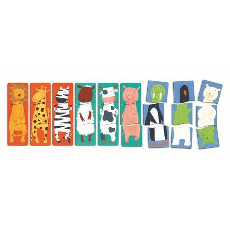Djeco Holz Puzzle Fancy Animals