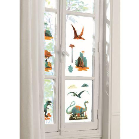 Djeco Fensterbilder Dinosaurier 28-teilig