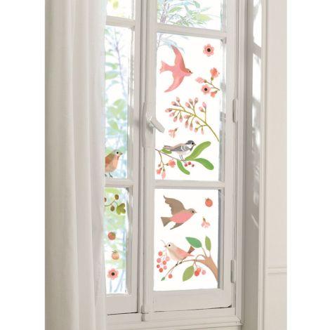 Djeco Fensterbilder Romantische Vögel 25-teilig