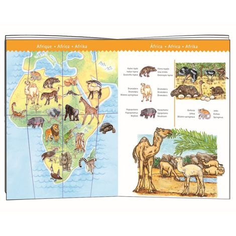 Djeco Entdeckerpuzzle Planet mit Tieren