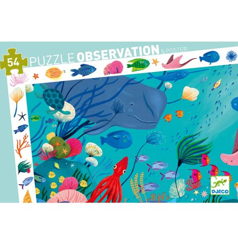 Djeco Entdeckerpuzzle Aquatic 54 Teile
