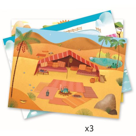 Djeco Rubbelbilder Landschaft