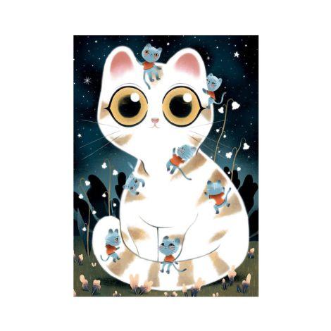 Djeco Twisty Puzzle Kuschelige Katzen - 50 Teile