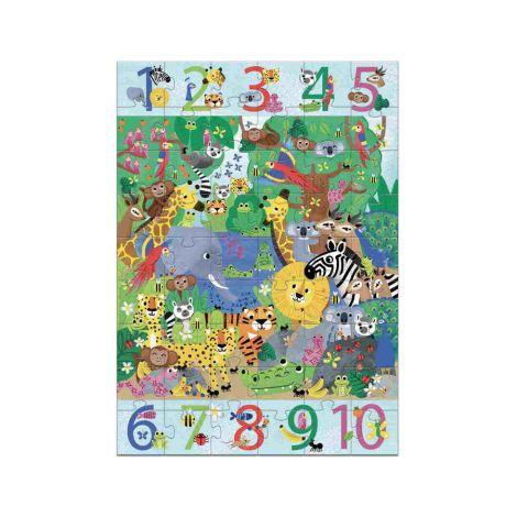 Djeco Bodenpuzzle 1 bis 10 Dschungel 54 Teile
