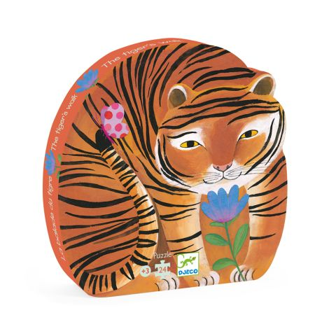Djeco Formenpuzzle The Tiger's Walk - 24 Teile