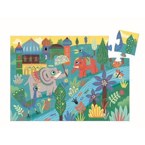 Djeco Puzzle Silhouette Haathee Asian Elephant 24 Teile