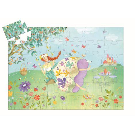 Djeco Formen Puzzle Prinzessin des Frühlings 36 Teile