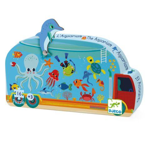 Djeco Formenpuzzle The Aquarium - 16 Teile