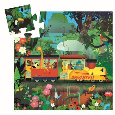 Djeco Puzzle Silhouette The Locomotive 16 Teile