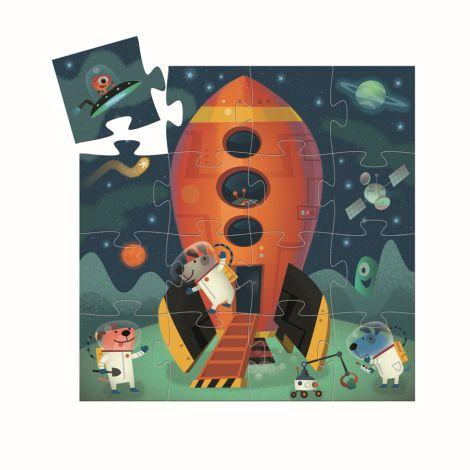Djeco Formen Puzzle Spaceship 16 Teile