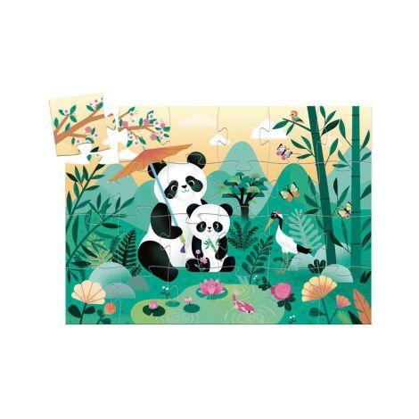 Djeco Formen Puzzle Leo der Panda 24 Teile
