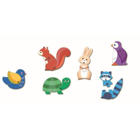 Djeco Lernspiele Puzzle duo/trio Articulo Animals