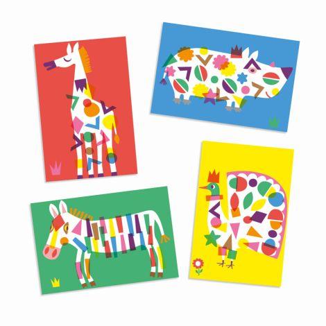Djeco Sticker Große Tiere