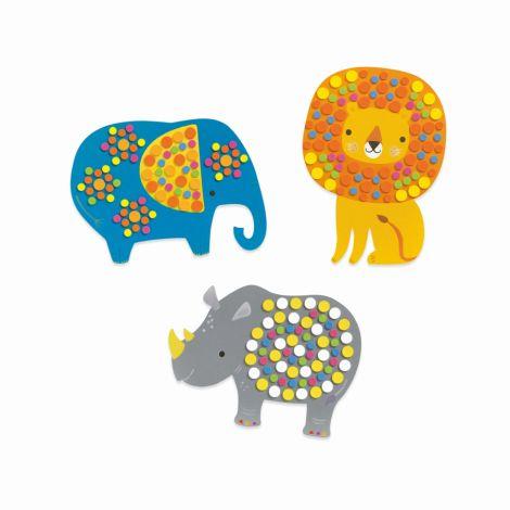 Djeco Mosaiken für Kleine Dschungeltiere