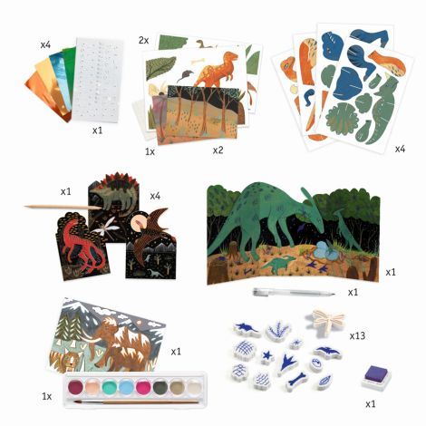 Djeco Multi-Activity Kit Welt der Dinosaurier