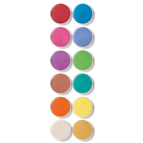 Djeco Wasserfarben Perleffekt 12er-Set
