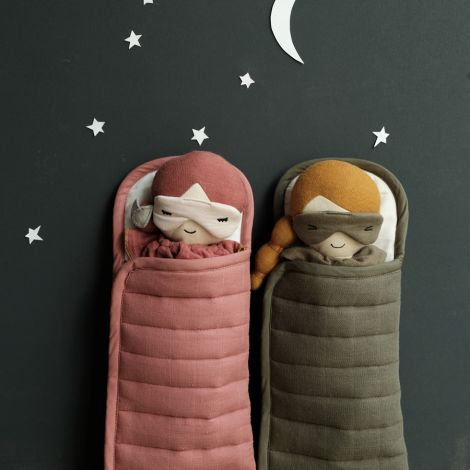 Fabelab Schlafsack für Puppen Olive Bio-Baumwolle