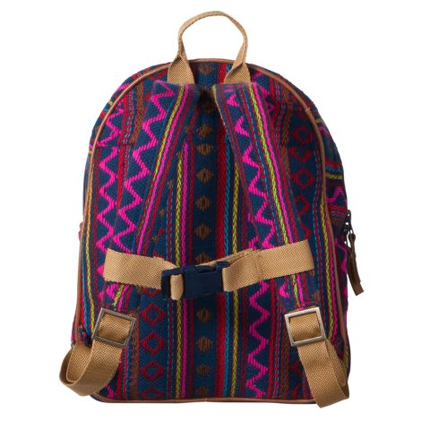 Room Seven Kleiner Rucksack Indian Stripe Dark Blue