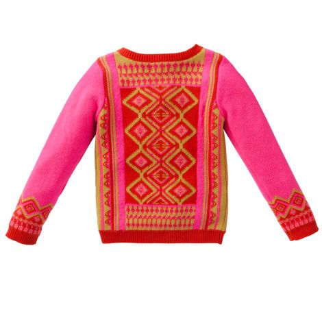 "Room Seven Cardigan ""Kokola"" Orange/Pink"