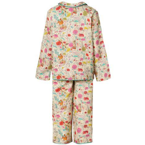 Room Seven Schlafanzug Pyjama Nina Forrest Print Beige