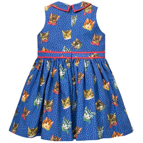 Room Seven Kleid Delta Cats Blue