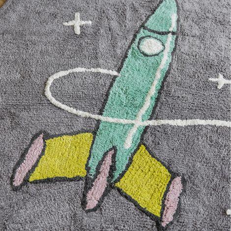 Minividuals Teppich Astronaut mit Rakete