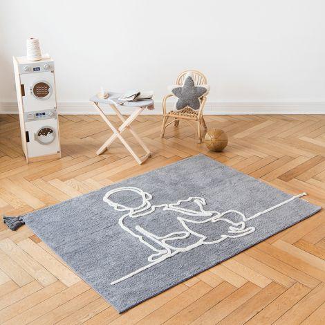 Minividuals Teppich Junge mit Hund