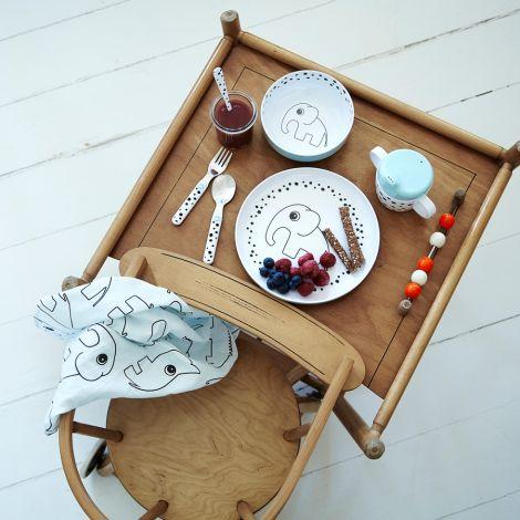 Done by Deer Geschirr-Set First Meal Happy Dots Blue
