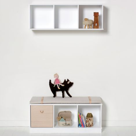 Oliver Furniture Wood Stand-Regal 3 x 1 Horizontal mit Sockel