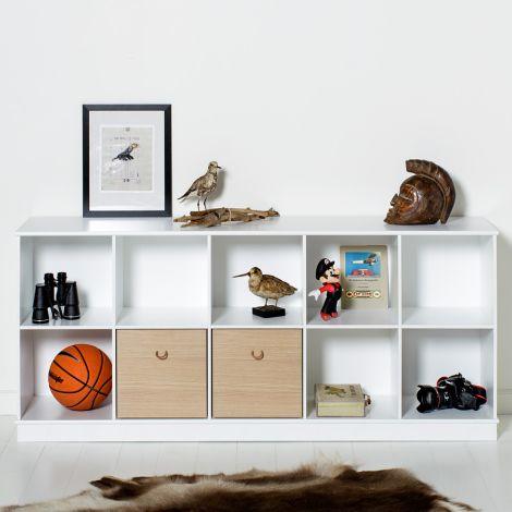 Oliver Furniture Wood Stand-Regal 5 x 2 Horizontal mit Sockel