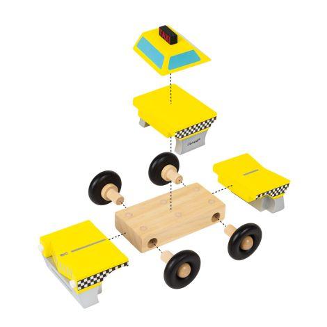Janod Magnetischer Bausatz Taxi •