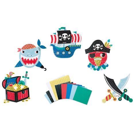 Janod Kreativ-Koffer für Mosaik-Karten Piraten •