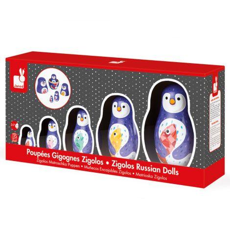 """Janod Zigolos Pinguin Familie """"Matroschka"""""""