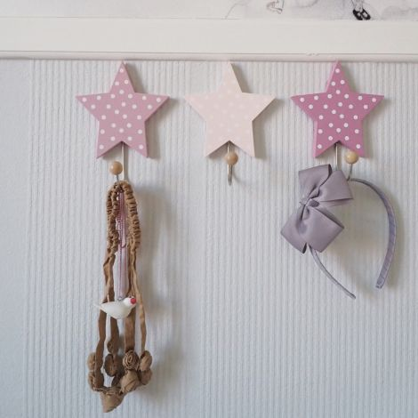 JaBaDaBaDo Wandhaken Sterne Pink 3er-Set