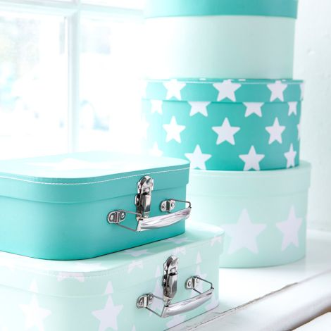 Kids Concept Pappboxen Rund Star Mint 3er Set