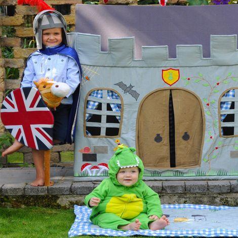 Win Green Spieldecke Quilt Knight's Castle Klein •