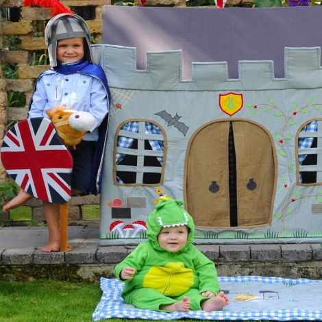 Win Green Spieldecke Quilt Knight's Castle Groß