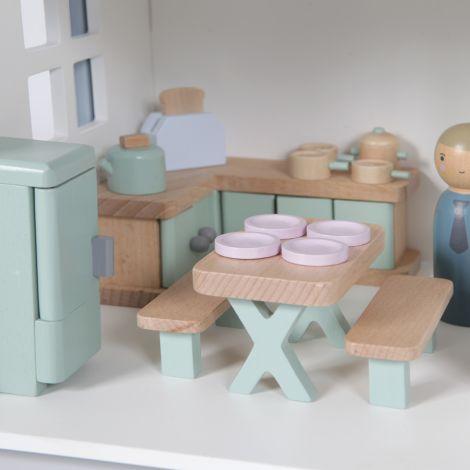 Little Dutch Puppenhaus-Spielset Küche 19-teilig