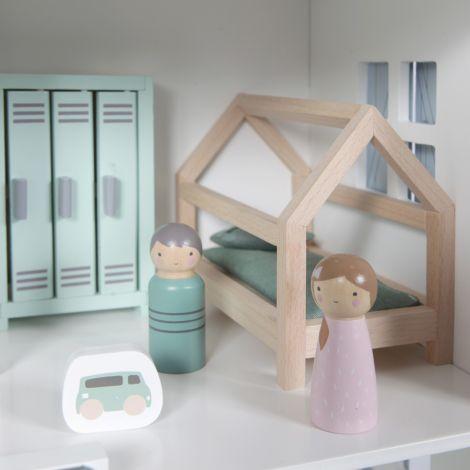 Little Dutch Puppenhaus-Spielset Kinderzimmer 12-teilig