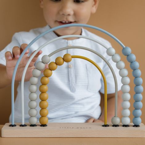 Little Dutch Regenbogen-Abacus Blue