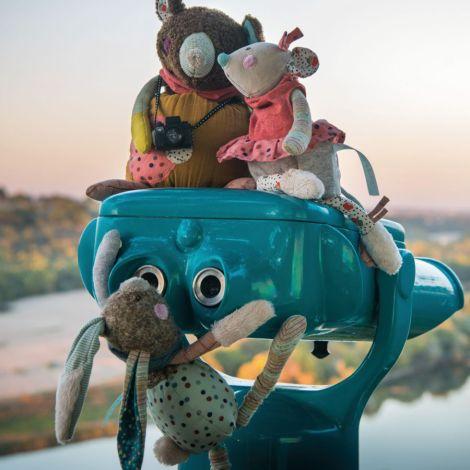 Moulin Roty Spieluhr Musik-Puppe Bär