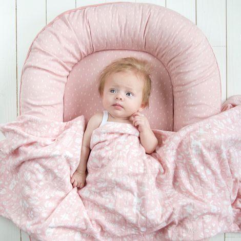 Little Dutch Wiegedecke Pure & Soft Adventure Pink