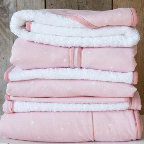 Little Dutch Wiegedecke Pure & Soft Little Stars Pink
