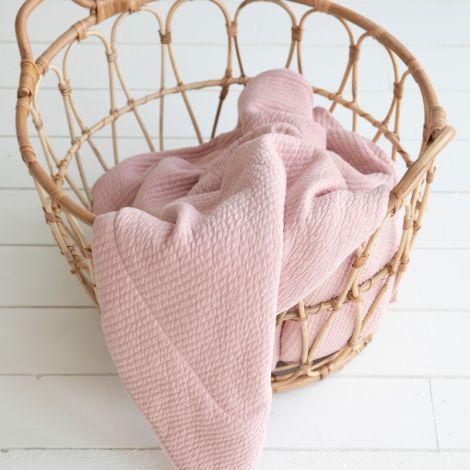 Little Dutch Wiegedecke Pure & Soft Pure Pink
